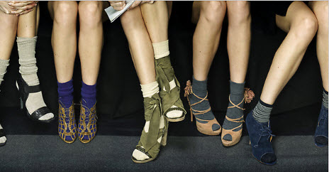 Sandals and socks for Tokyo SS15